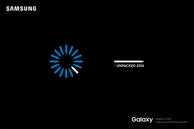 Samsung Galaxy Note7 launch invitation