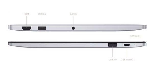 Xiaomi Mi Notebook Air ports