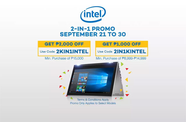 Intel Offers Up to ₱2,000 Discount for 2-in-1 Convertible Laptops