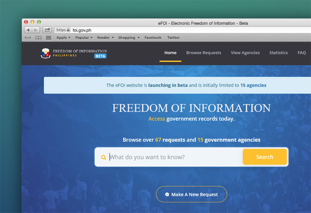 Freedom of Information Website