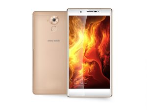 Cherry Mobile Cosmos Three in gold.