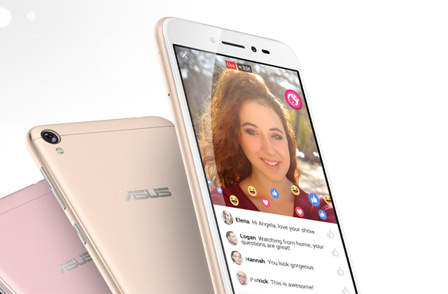 The ASUS Zenfone Live's real-time beautification is compatible with Facebook.