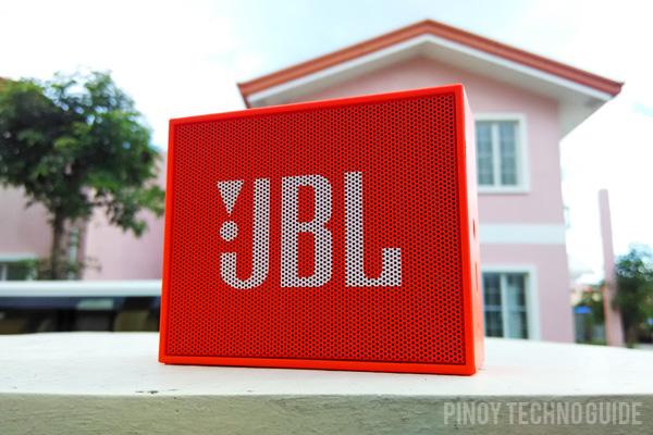 JBL Go in orange.