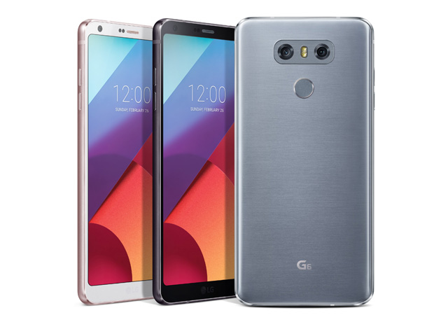 The three color options of the LG G6.