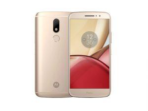 Motorola Moto M in fine gold.