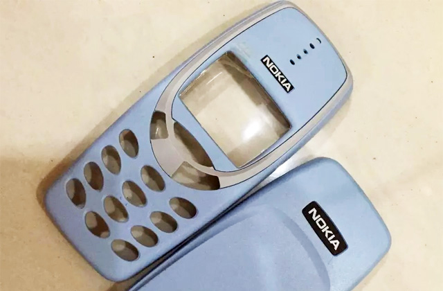 A sky blue casing for the Nokia 3310.