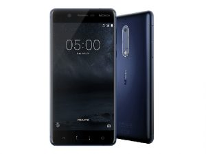 The Nokia 5 smartphone in black.