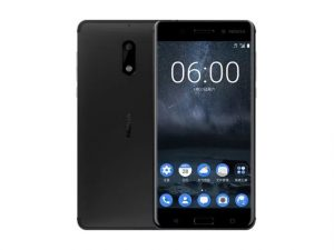Nokia 6 in black.