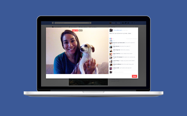 Facebook Live on a macbook.