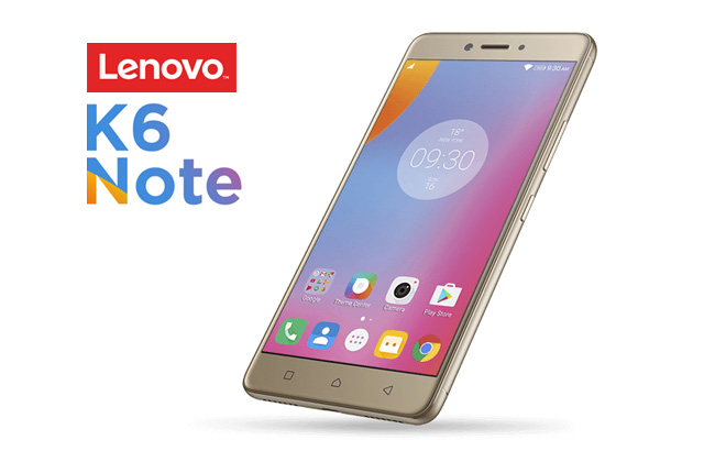 Lenovo K6 Note in gold.