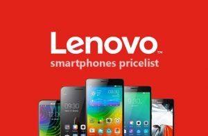 Lenovo smartphones pricelist.