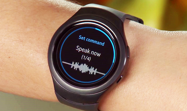 Samsung's S Voice on the Gear S2.