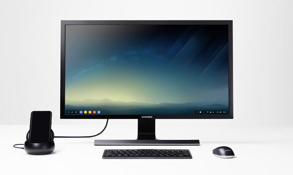 Samsung DeX in action.