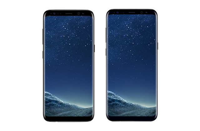 Samsung Galaxy S8 (left) and Samsung Galaxy S8 Plus (right).