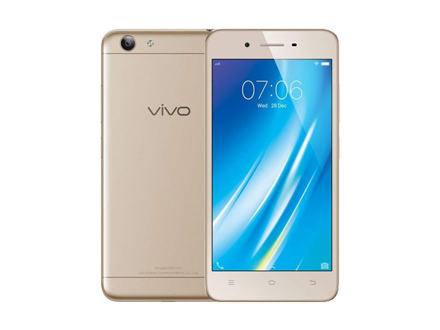 The Vivo Y53 smartphone in gold.