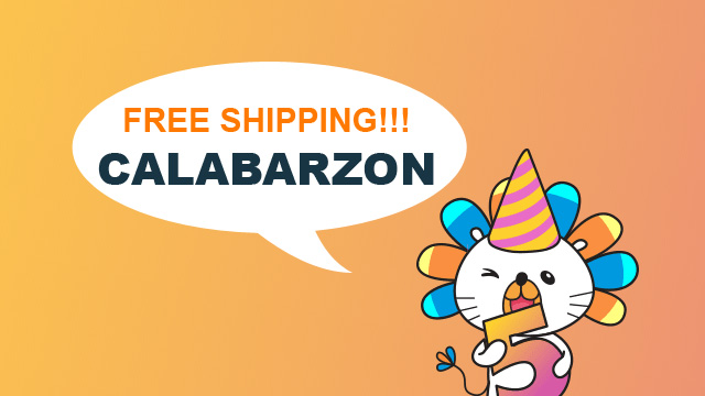 Lazada's mascot announcing the Free Shipping for CALABARZON.