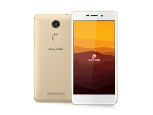 The Cherry Mobile Desire R7 smartphone in gold.
