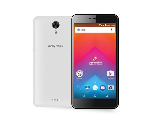 The Cherry Mobile Flare HD 3 smartphone in white.