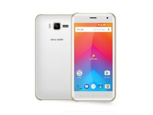 The Cherry Mobile Flare J1 2017 smartphone in white.