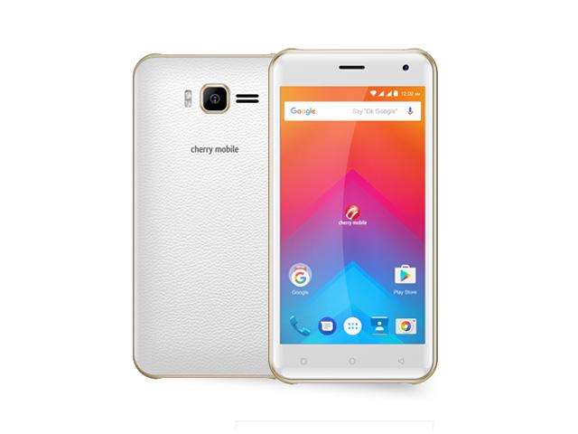 The Cherry Mobile Flare J1 2017 smartphone in white.