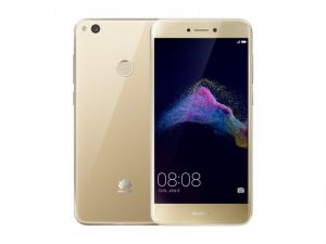The Huawei GR3 2017 smartphone in gold.