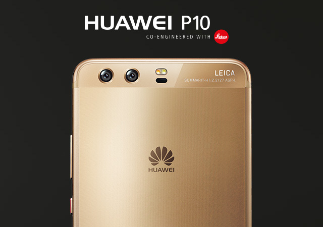 The Huawei P10 has a dual rear camera and a selfie camera that are both Leica branded.