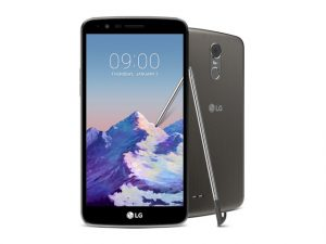 The LG Stylus 3 in gray.