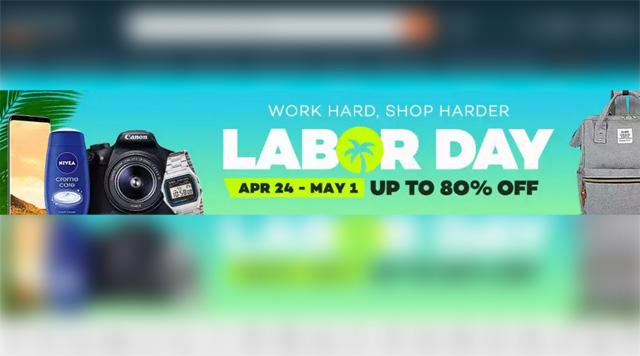 Lazada Labor Day Sale 2017.