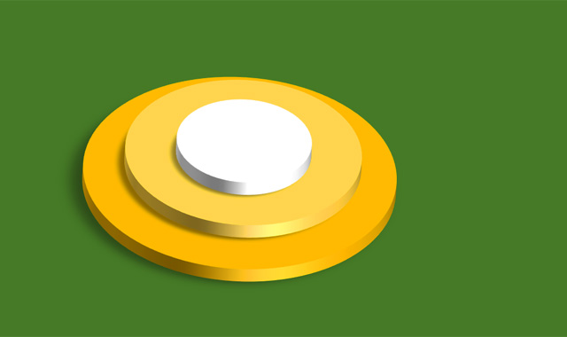 Android O logo in 3D.