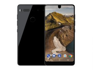 The Essential Phone smartphone in black.