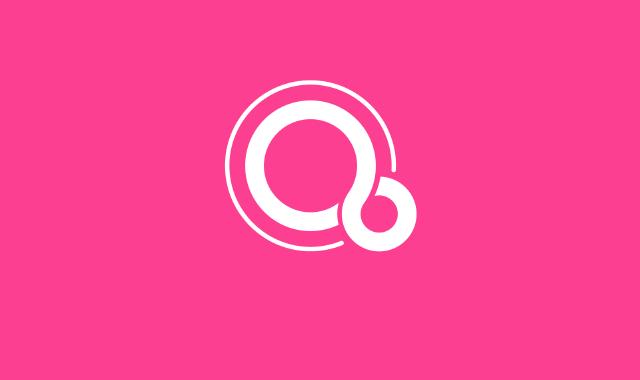 Fuchsia OS logo.