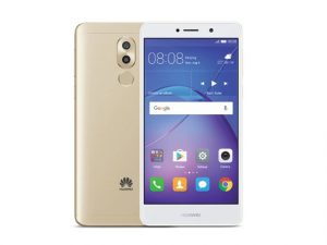 The Huawei GR5 2017 smartphone in gold.