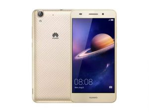The Huawei Y6 II smartphone in gold.
