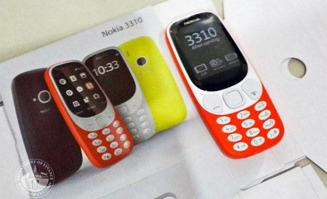 One of the Nokia 3310 (2017) phones confiscated by the BOC.