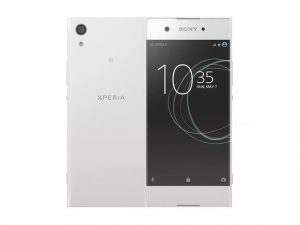 The Sony Xperia XA1 smartphone in white.