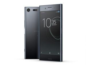 The Sony Xperia XZ Premium smartphone in black.