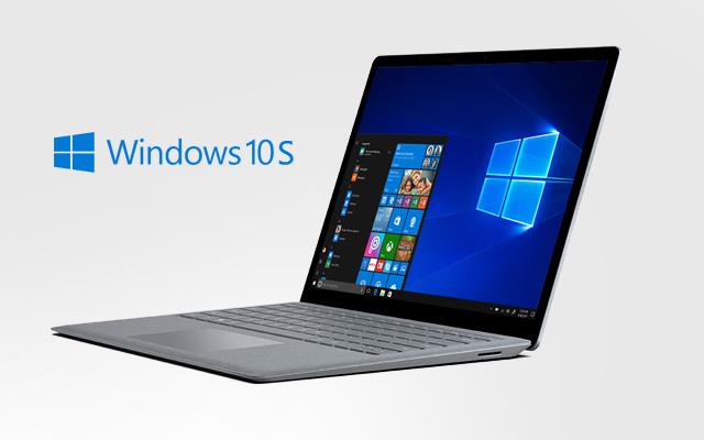 The Microsoft Surface Laptop running on Windows 10 S.