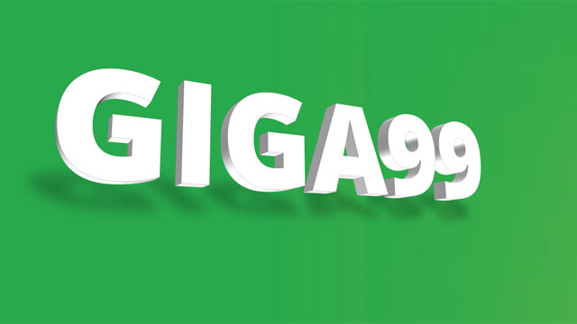 To register for GIGASURF 99, text GIGA99 to 9999.