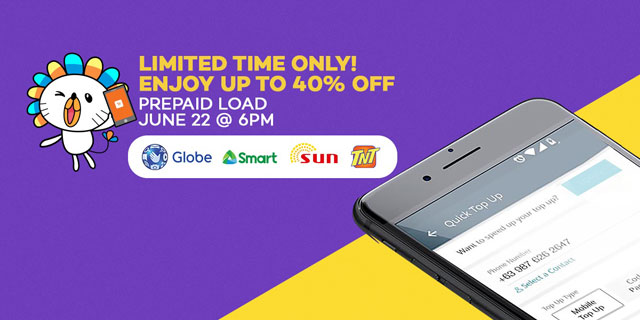 Lazada's cellphone load sale.