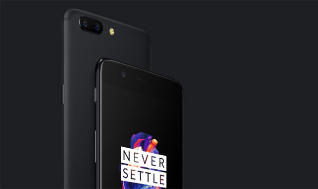 OnePlus 5 front and back