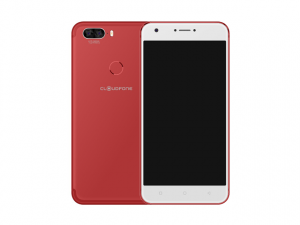 The Cloudfone Excite Prime 2 Pro smartphone in red.