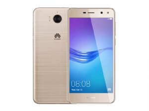 The Huawei Y5 2017 smartphone in gold.