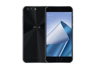 The ASUS Zenfone 4 smartphone in black.