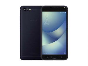 The ASUS Zenfone 4 Max smartphone in black.