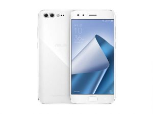 The ASUS Zenfone 4 Pro smartphone in white.