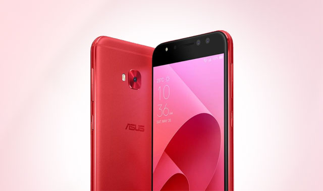 Meet the ASUS Zenfone 4 Selfie smartphone in red.