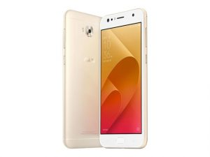 The ASUS Zenfone 4 Selfie Pro smartphone in gold.