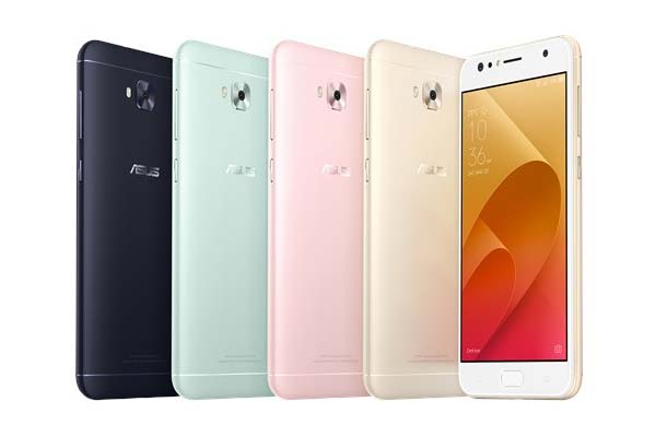 The ASUS Zenfone 4 Selfie comes in black, mint green, pink and gold.