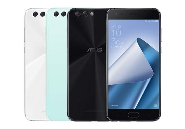 The ASUS Zenfone 4 is available in white, mint green and black.