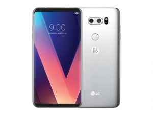The LG V30 smartphone in gray.